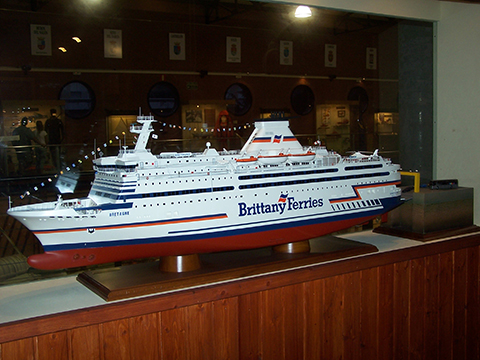 "Modelo naval ""Brittany Ferries"""